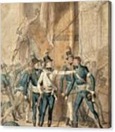 The Battle Of Hogland Canvas Print