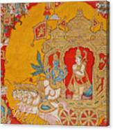 The Battle Of Kurukshetra Canvas Print