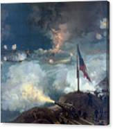 The Battle Of Port Hudson - Civil War Canvas Print
