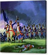 The Battle Of Saratoga, Showing A General Attack Led By Brigadier Arnold Canvas Print