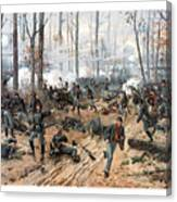 The Battle Of Shiloh Canvas Print