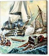 The Battle Of Trafalgar Canvas Print