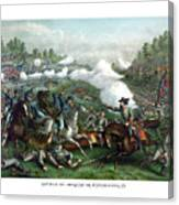 The Battle Of Winchester Canvas Print
