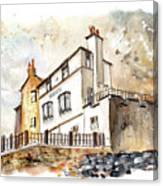 The Bay Hotel In Robin Hoods Bay Canvas Print