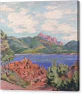 The Bay Of Agay Canvas Print