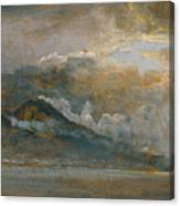 The Bay Of Naples With Vesuvius Canvas Print