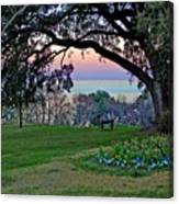 The Bay View Bench Canvas Print