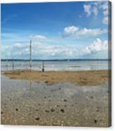 The Beach At Helnaes Canvas Print
