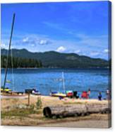 The Beach At Hill's Resort Canvas Print