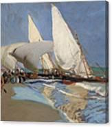 The Beach At Valencia Canvas Print