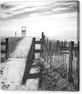 The Beach In Black And White Canvas Print