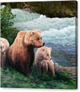 The Bears Of Katmai Canvas Print