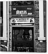 The Beatles Shop In Mathew Street In Liverpool City Centre Birthplace Of The Beatles Merseyside  Canvas Print