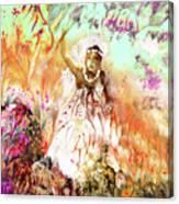 The Beautiful Black Bride Canvas Print
