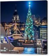 The Beautiful, Freshly Renovated Katarina Church And The Gigantic Christmas Tree In Stockholm Canvas Print