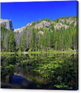 The Beautiful Nymph Lake With Reflection And Clear Water Canvas Print