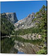The Beautiful The Louch Lake With Reflection And Clear Water Canvas Print