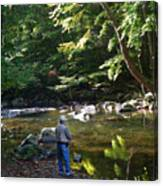 The Beauty Of Trout Fishing 2 - Original Photography Canvas Print