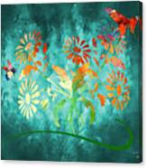 The Bee And Butterfly Canvas Print