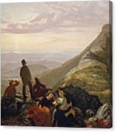 The Belated Party On Mansfield Mountain Canvas Print