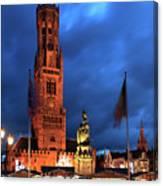 The Belfort Tower, Belfry, Bruges City, West Flanders Canvas Print