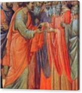 The Betrayal Of Judas Fragment 1311 Canvas Print