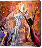 The Bible Crucifixion Canvas Print