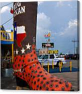 The Big Boot Canvas Print