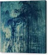 The Big, The Rain, Retro Canvas Print
