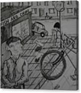 The Bike Canvas Print