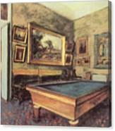 The Billiard Room At Menil-hubert Canvas Print