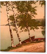The Birches At Oak Birch Inn, Alton Bay, Lake Winnipesaukee, N. H.  Canvas Print