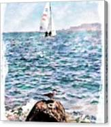 The Bird And The Sea Canvas Print