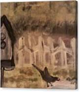 The Bird Bath Canvas Print
