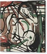 The Birth Of Horses  Geburt Der Pferde, 1913 Canvas Print