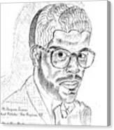 The Black Thinker Canvas Print