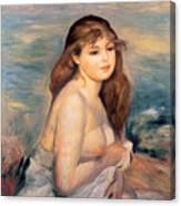 The Blonde Bather Canvas Print
