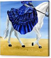 The Blue And The White - Princess Starliyah Riding Candis Canvas Print