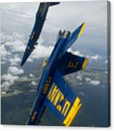 The Blue Angels Over Pensacola Beach Canvas Print