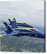 The Blue Angels Over Seattle Canvas Print