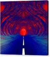 The Blue Avenue Canvas Print