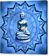 The Blue Buddha Meditation Canvas Print