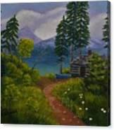 The Blue Canoe Canvas Print