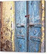 The Blue Doors Nubian Village Canvas Print