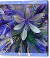 The Blue Flowers Of Melanie  Canvas Print