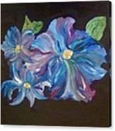 The Blue Flowers Canvas Print
