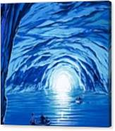 The Blue Grotto In Capri By Mcbride Angus  Canvas Print