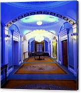 The Blue Hallway Canvas Print
