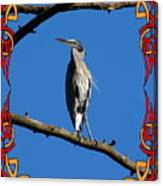 The Blue Heron Claimed He Was Framed Canvas Print