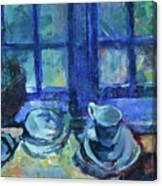 The Blue Kitchen Canvas Print